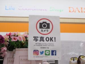 100円ショップ「ダイソー」の店内での写真撮影